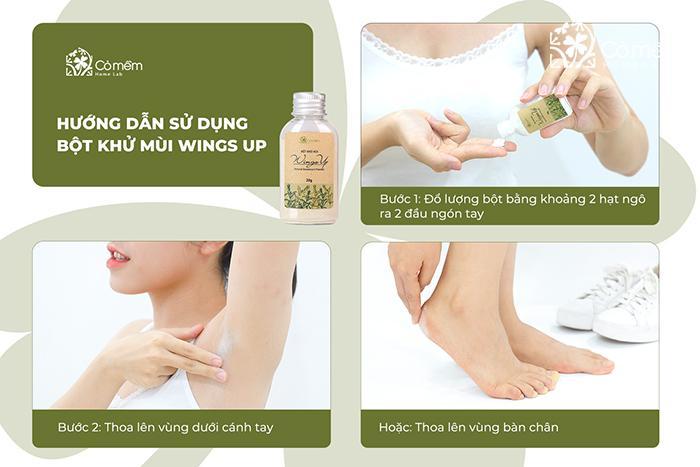 Cách dùng Wings Up trị hôi nách